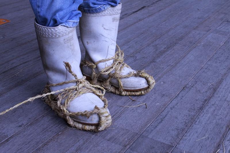 長靴用のわらじ!これは欲しい!